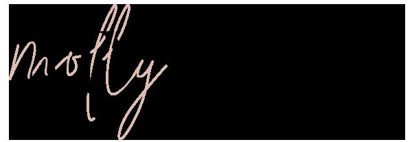 Horizonal Molly My Mag logo - header on magazine