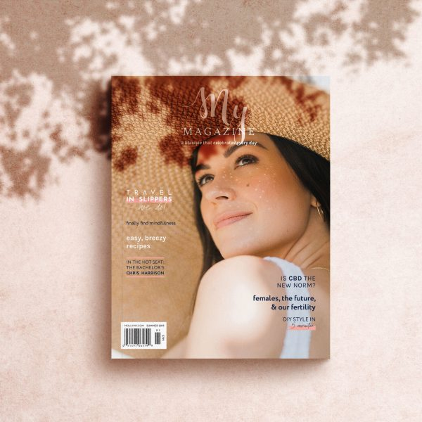 Cover of My Mag's summer 2019 issue under tree shadow