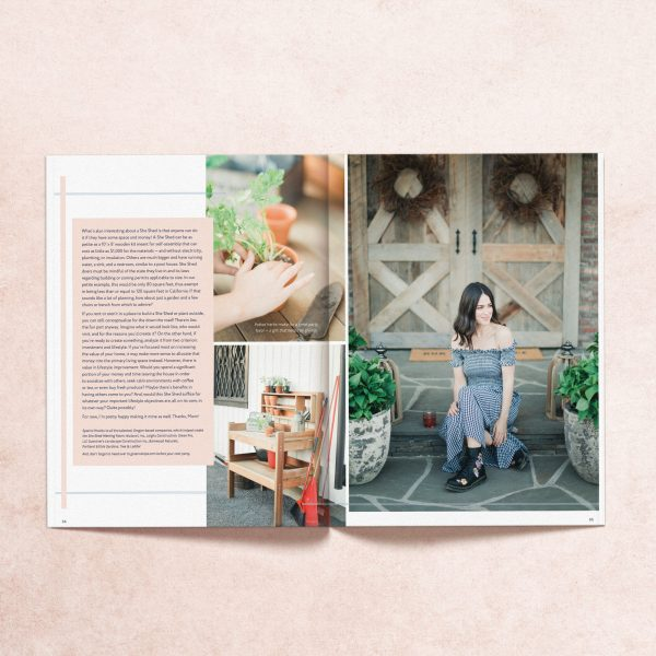 """Featured article titled """"She Said She Shed"""" from My Mag's summer 2019 print issue"""