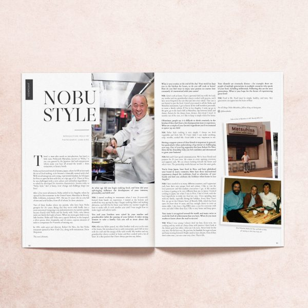 Print pages from My Mag feature on chef Nobu