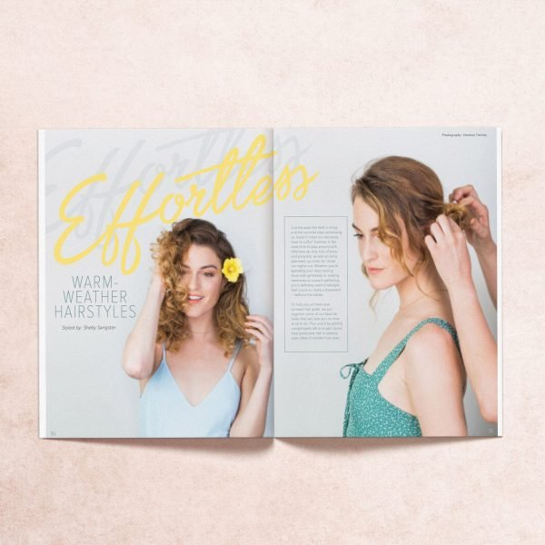 Featured article from My Mag's Summer 2017 issue on effortless warm weather hairstyles