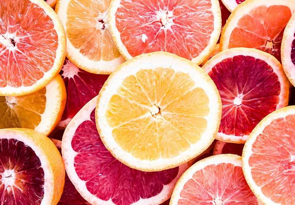 Citrus fruits for healthy immune supporting wellness tonic