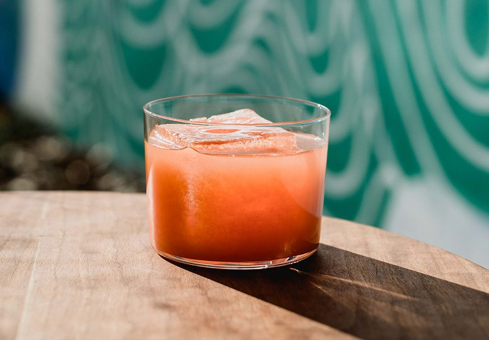 Prepared Gotham Sunset carrot cocktail recipe from Healthy Cocktails